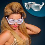 White Light Up Slotted Sunglasses - BLANK