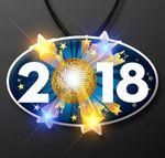 Custom 2018 Blinky on Lanyard for New Year's Eve