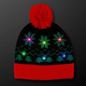 Light Up Christmas Beanie Hat