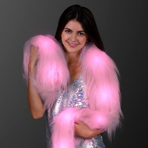 Pink Glam Light Up Faux Fur Boa