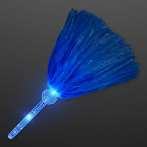 Light Up Team Spirit Blue Pom Poms