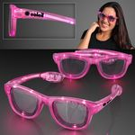 LED Flashing Cool Shade Pink Sunglasses