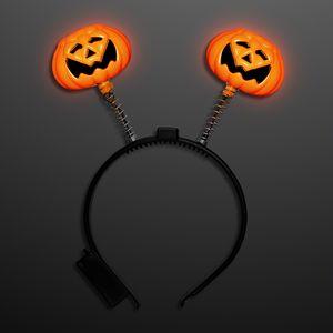 Light Up Pumpkin Bopper Headband - BLANK
