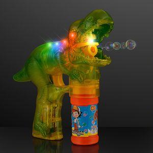 Custom Blinky Lights Dinosaur Bubble Gun, NO Sound