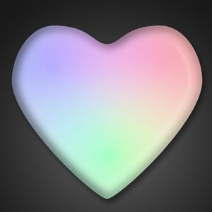 Custom Aurora Heart Light Up Pin - BLANK