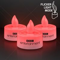 Imprinted Red LED Tea Light Candle