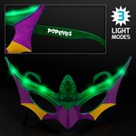 Purple, Green & Gold Mardi Gras Mask LED Shades