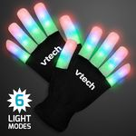Custom Stripe Light Fingers LED Glow Gloves