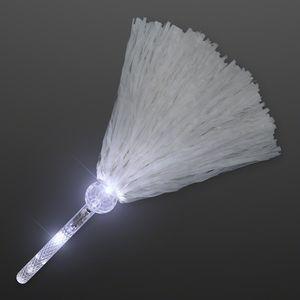 Light Up Team Spirit White Pom Poms