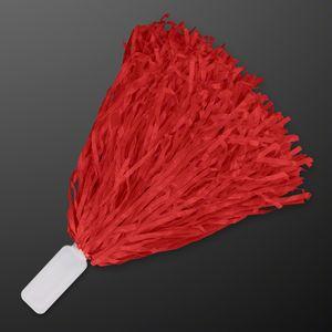 Economy Red Pom Poms (Non-Light Up) - BLANK