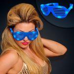 Blue Light Up Slotted Sunglasses - BLANK