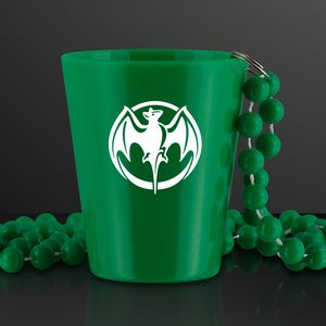 Custom Printed Shot Glass with Beaded Necklace