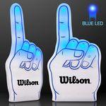 Custom Light Up Blue #1 Foam Finger