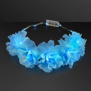 Custom Bohemian Blue Light Up LED Flower Crown