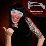 Imprintable Multicolor Light Up Slotted Sunglasses