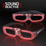 Sound Reactive LED Red Party Shades, 80s Style