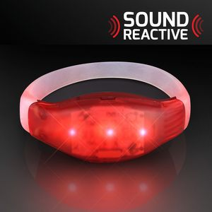 Sound Activated Light Up Red Led Flashing Bracelet 11819 Rd Ideastage Promotional Products