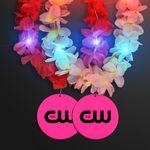 Custom Light Up Hawaiian Leis with Custom Pink Medallion