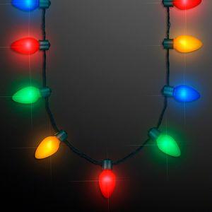 Custom 9 Lights Christmas Bulb Necklace - BLANK