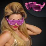 Pink Light Up Slotted Sunglasses - BLANK