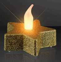Gold Glitter Star Tealights, LED Candles