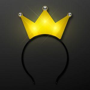 Custom Light Up Yellow Crown Tiara Princess Headband
