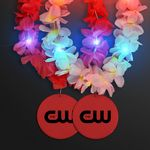 Custom Light Up Hawaiian Leis with Custom Red Medallion