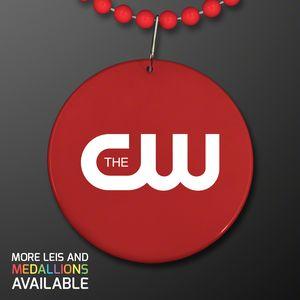 Personalized Round Pendant Bead Necklaces!