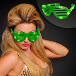 Green Light Up Slotted Sunglasses