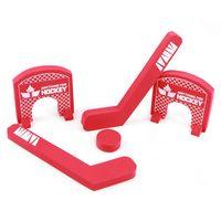 Hockey Game W/ Sticks