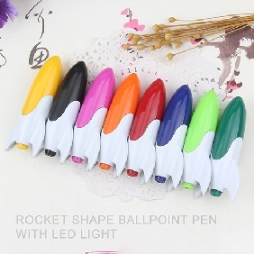 Custom Imprinted Rocket Shaped Light-up Pens