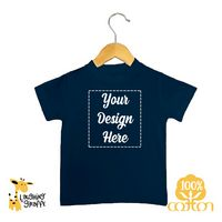 Baby Short Sleeve Crew Neck T-Shirts - Black and Navy - 100% Cotton - The Laughing Giraffe®