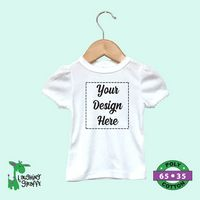 The Laughing Giraffe® Baby Onesies Short Sleeves 100% CottonLite - White