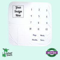 The Laughing Giraffe® White Side Snap Kimono Bodysuit w/Mittens