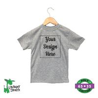 Baby Short Sleeve Crew Neck T-Shirts - Heather Gray - 65% Poly / 35% Cotton - The Laughing Giraffe®