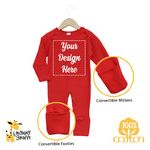 Custom The Laughing Giraffe Long Sleeve Cotton Jumpsuit - Red