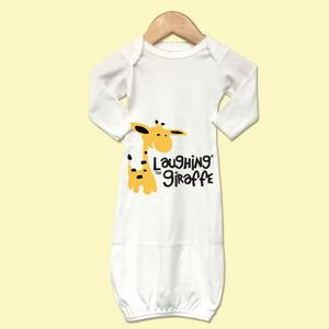 7f4082a37 The Laughing Giraffe Long Sleeve Cotton Baby Sleeper Gown W Scallop