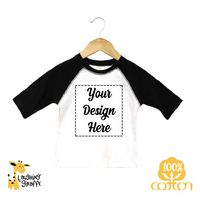 The Laughing Giraffe® Baby White Long Sleeve Lap T Bodysuit