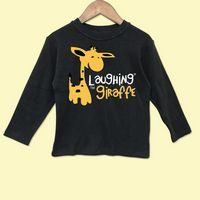 The Laughing Giraffe® Baby Dark Colors Long Sleeve T-Shirt w/Crew Neck