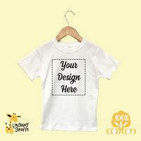 The Laughing Giraffe® White Short Sleeve Polyester Bodysuit