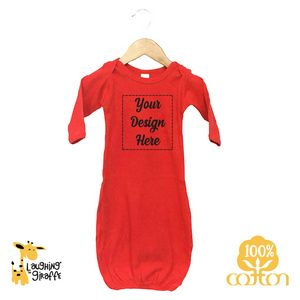 84bcf415b The Laughing Giraffe® Long Sleeve Cotton Baby Sleeper Gown - Bright Color -  LG2800B - IdeaStage Promotional Products