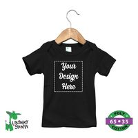 The Laughing Giraffe® Black Baby Lap T-Shirt