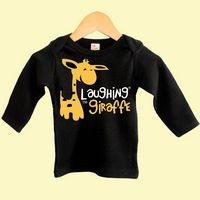 The Laughing Giraffe® Baby Black Long Sleeve Lap T-Shirt w/Crew Neck