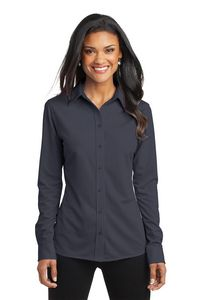 Port Authority Dimension Knit Ladies Dress Shirt