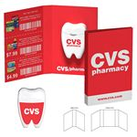 Custom Tek Booklet with Tooth Shaped Dental Floss