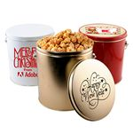 Custom 1 Gallon Gift Tin (with Butter Popcorn, Pretzels & Chocolate Covered Pretzels)