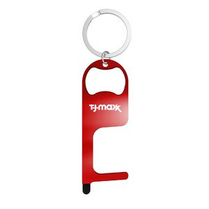Stainless Steel NO Touch Tool with Stylus and Bottle Opener