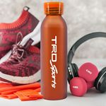 Custom 20 oz. Aluminum Bottle with Silicone Carrying Strap