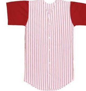 8000a9565 Youth 14 Oz. Warp Knit Pinstripe Baseball Jersey Shirt w/ Full Button -  YBB-248PN - IdeaStage Promotional Products