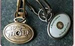Oval Dome Front Keyring W/ Ball Marker Insert Back